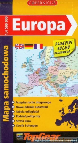 Europa Mapa Samochodowa Ksiazka Ksiegarnia Bookmaster