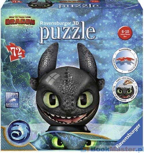 Jak Wytresować Smoka 3 - Puzzle 3d Kula 72 El. -
